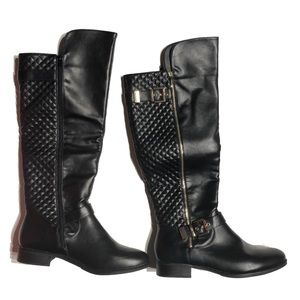New Sz 12 black Shoe dazzle over knee boot